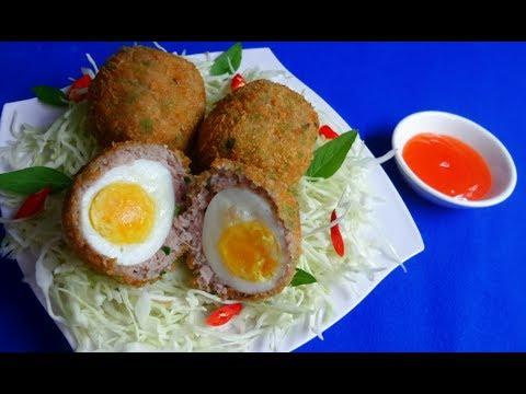 Thịt bọc trứng chiên xù