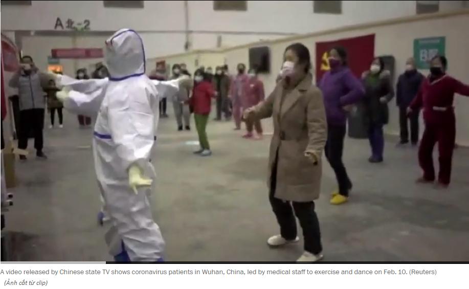 Truyền thông nhà nước Trung Quốc đang khuyến khích mọi người nhảy múa để tập thể dục khi đang cách ly