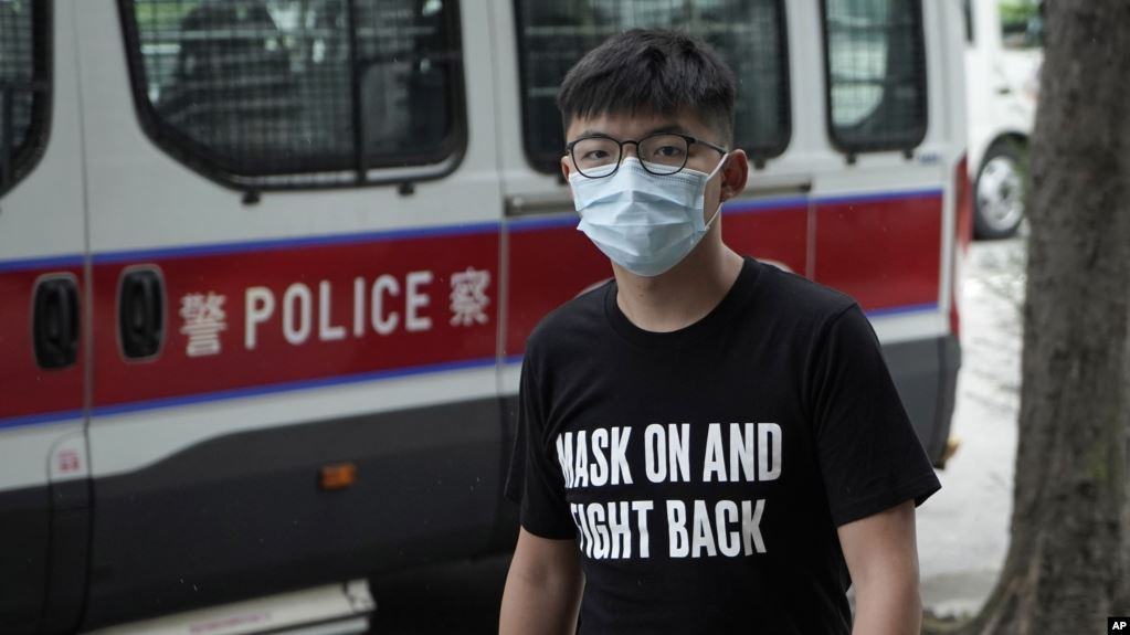 Joshua Wong bị bắt vì 'tụ tập bất hợp pháp' năm 2019