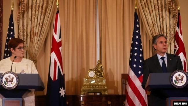 Ngoại trưởng Blinken: Mỹ không để Úc đơn độc trước sự cưỡng ép của Trung Quốc