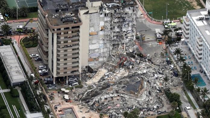 Vụ sập chung cư ở Miami: Số người chết tăng lên 4, gần 100 người chưa tìm thấy
